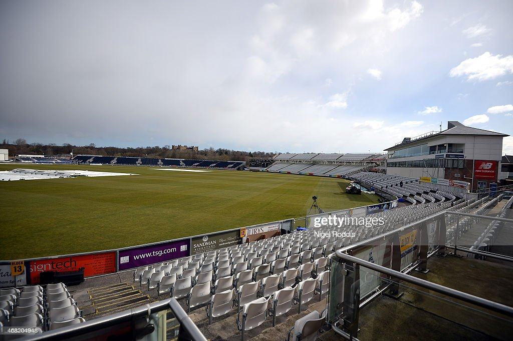 A general view of the stadium during the Durham CCC Photocall at The Riverside on March 31 2015 in ChesterleStreet England