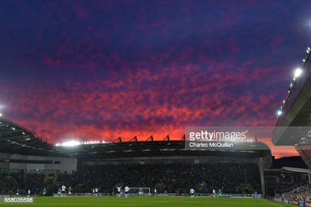 General view of the stadium during the FIFA 2018 World Cup Qualifier between Northern Ireland and Norway at Windsor Park on March 26 2017 in Belfast...