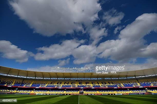 General view of the stadium during the FIFA U17 World Cup Chile 2015 Group E match between South Africa and Costa Rica at Estadio Municipal de...