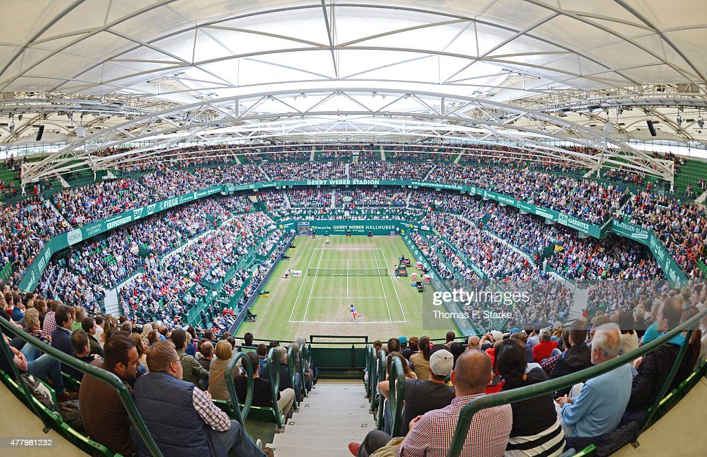 A general view of the stadium during the final day of the Gerry Weber Open at Gerry Weber Stadium on June 21 2015 in Halle Germany