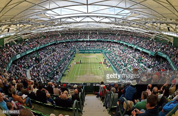 A general view of the stadium during the final day of the Gerry Weber Open at Gerry Weber Stadium on June 19 2016 in Halle Germany