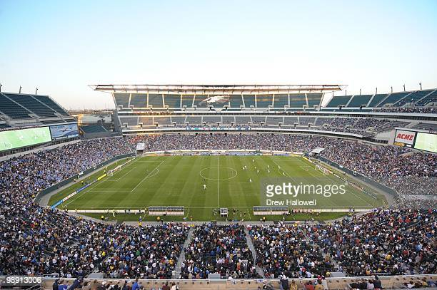 A general view of the stadium during the first regular season home game for the Philadelphia Union as they play against DC United on April 10 2010 at...