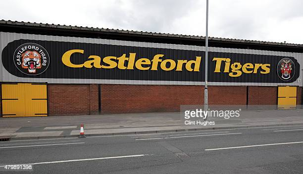 A general view of the stadium during the First Utility Super League match between Castleford Tigers and Widnes Vikings at The Jungle on July 5 2015...