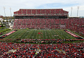 A general view of the stadium during the Louisville Cardinals game against the Syracuse Orange at Papa John's Cardinal Stadium on November 7 2015 in...
