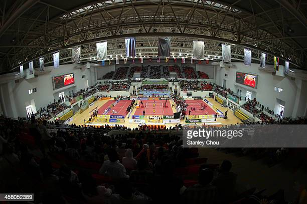 General view of the Stadium during the Men's Team Double Final of the Sepak Takraw Competition between Indonesia and Burma during the 2013 SEA Games...