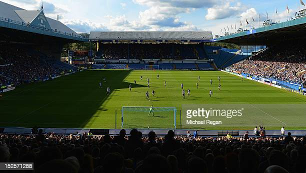 A general view of the stadium during the npower Championship match between Sheffield Wednesday and Bolton Wanderers at Hillsborough Stadium on...