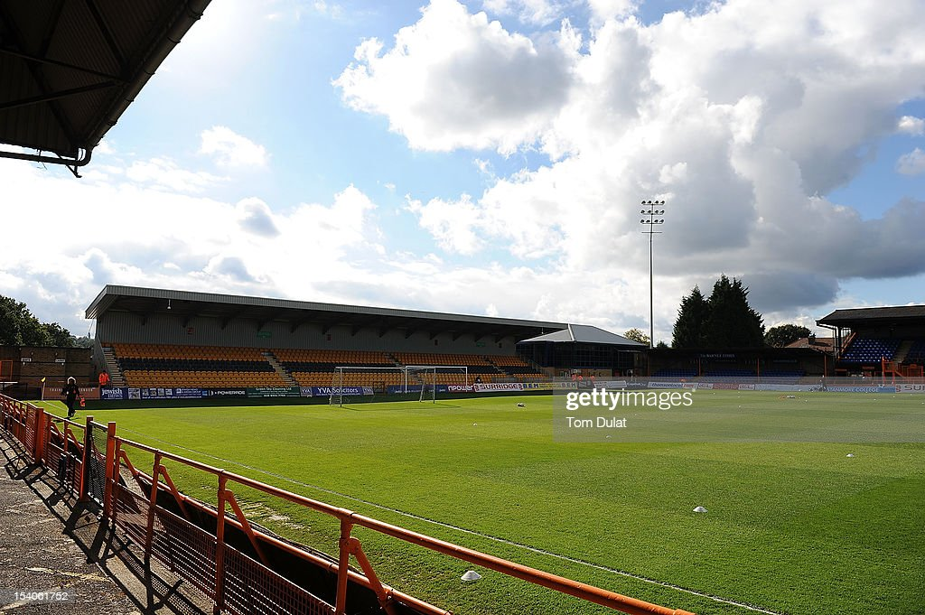 General view of the stadium during the npower League Two match between Barnet and Plymouth Argyle at Underhill Stadium on October 13, 2012 in Barnet, England.