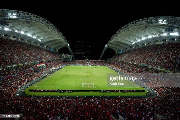 A general view of the stadium during the Premier League Asia Trophy match between Liverpool FC and Leicester City FC at Hong Kong Stadium on July 22...