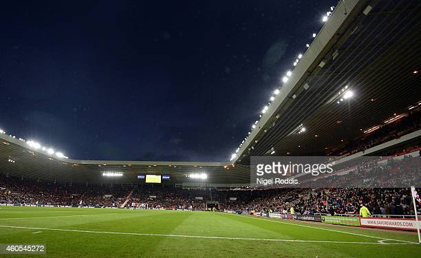 A general view of the stadium during the Premier League Football match between Sunderland and West Ham United at Stadium of Light on December 13 2014...