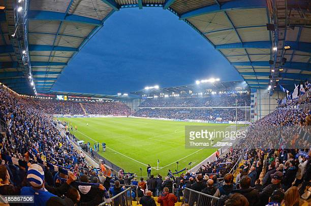 A general view of the stadium during the Second Bundesliga match between Arminia Bielefeld and 1 FC Koeln at the Schueco Arena on October 25 2013 in...