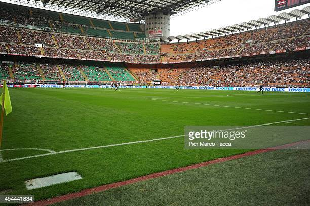 General view of the stadium during the Serie A match between AC Milan and SS Lazio at Stadio Giuseppe Meazza on August 31 2014 in Milan Italy