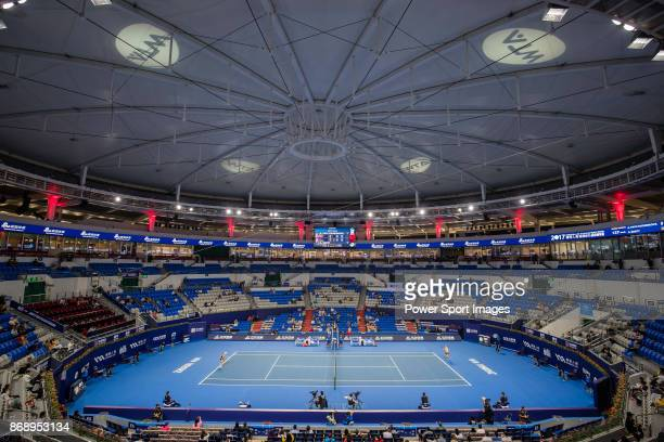 A general view of the stadium during the singles Round Robin match of the WTA Elite Trophy Zhuhai 2017 between Anastasia Pavlyuchenkova of Russia and...