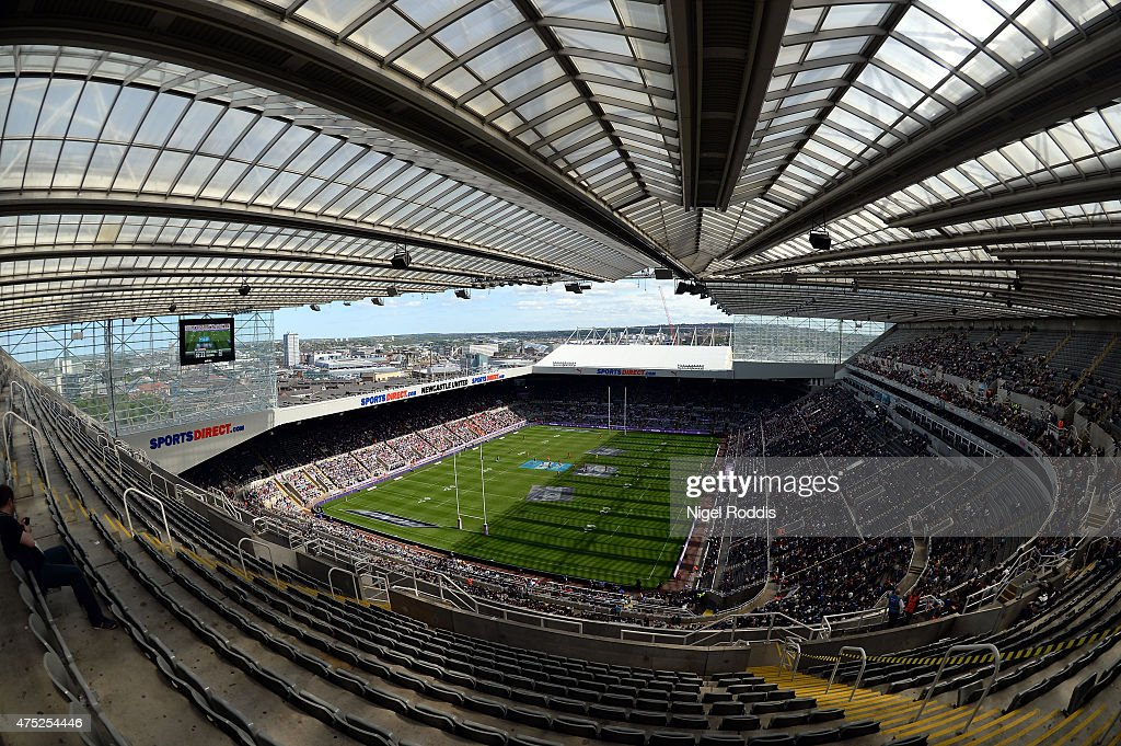 A general view of the stadium during the Super League match between Salford Red Devils and Widnes Vikings at St James' Park on May 30, 2015 in Newcastle upon Tyne, England.