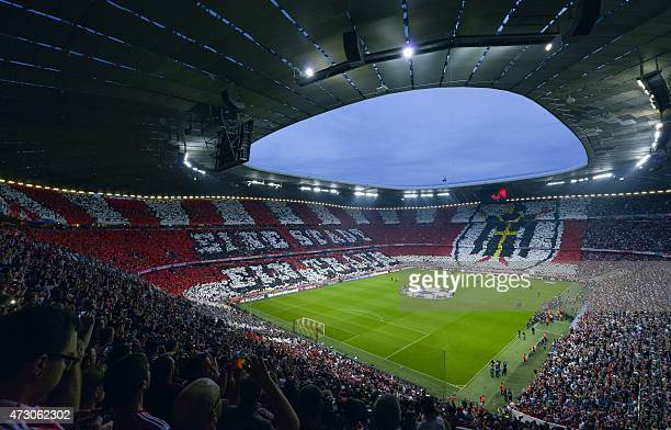 A general view of the stadium during the UEFA Champions League football match second leg semi final FC Bayern Munich vs FC Barcelona in Munich on May...