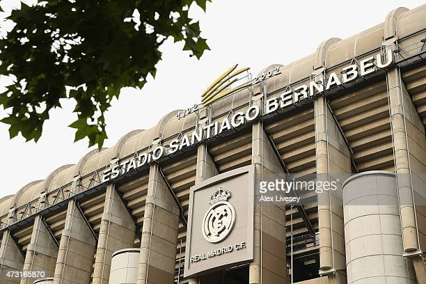 A general view of the stadium during the UEFA Champions League Semi Final second leg match between Real Madrid and Juventus at Estadio Santiago...