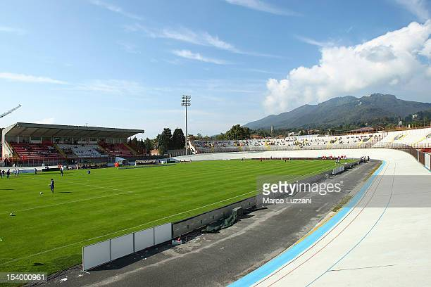 A general view of the stadium Franco Ossola ahead of the Serie B match between AS Varese and Empoli FC at Stadio Franco Ossola on October 6 2012 in...
