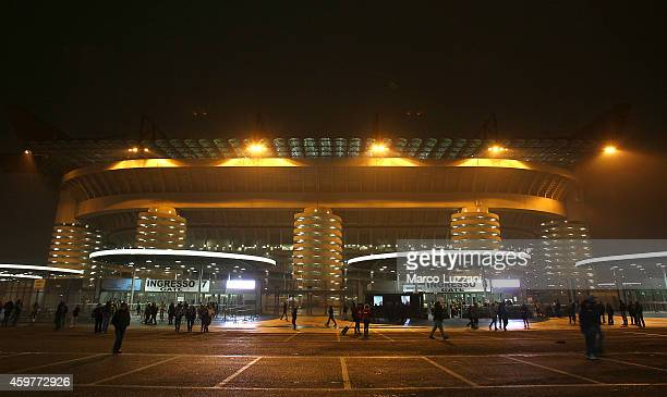 A general view of the stadium Giuseppe Meazza ahead before the UEFA Europa League Group F match between FC Internazionale Milano and FC Dnipro...