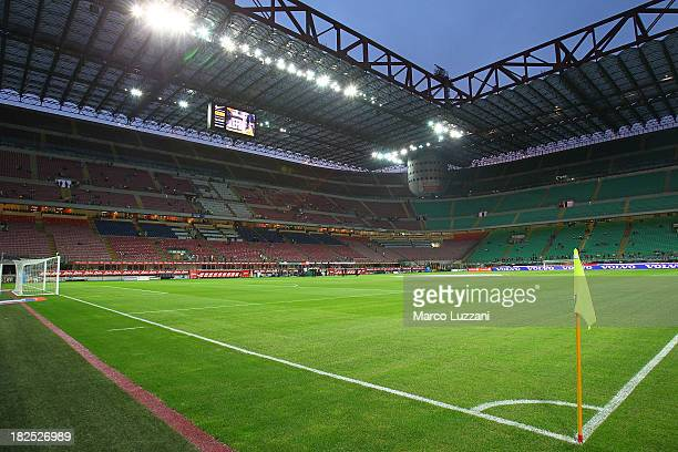 A general view of the stadium 'Giuseppe Meazza Stadium' ahead of the Serie A match between FC Internazionale Milano and ACF Fiorentina at Giuseppe...