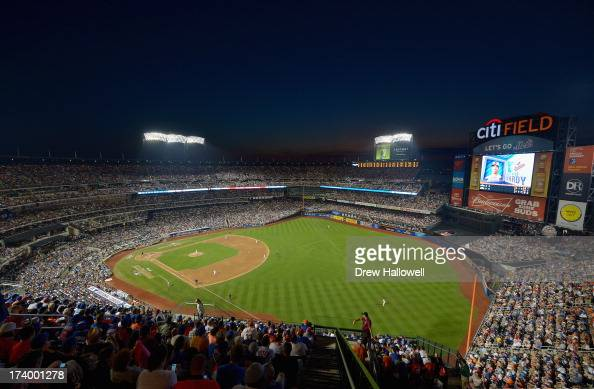 A general view of the stadium is seen as the American League AllStars plays against the National League AllStars during the 84th MLB AllStar Game on...
