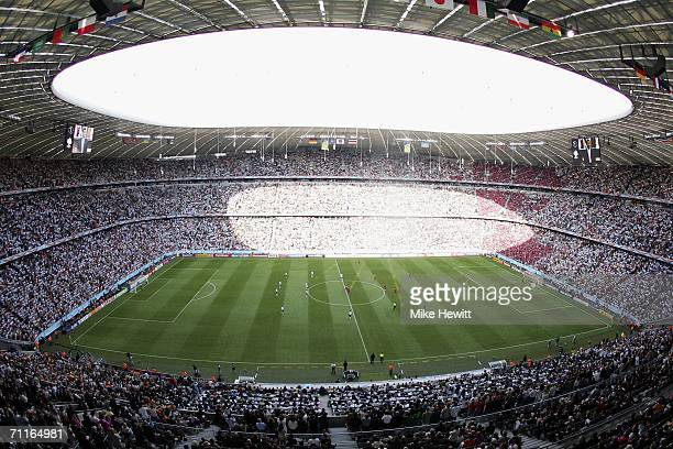 A general view of the stadium just prior to kickoff during the FIFA World Cup Germany 2006 Group A match between Germany and Costa Rica at the...
