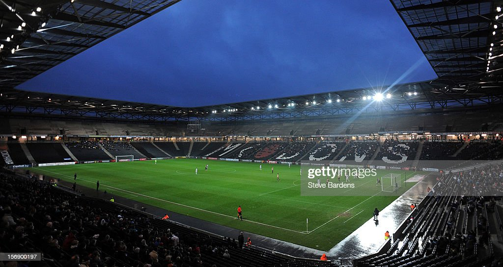 A general view of the Stadium MK during the npower League One match between MK Dons and Colchester United at Stadium MK on November 24, 2012 in Milton Keynes, England.