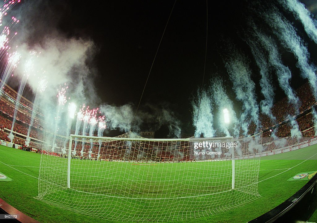 General view of the Stadium of Light during the Portuguese Campeonato match between Benfica and Sporting Lisbon played at the Stadium of Light in...