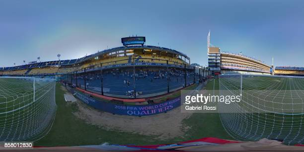 General view of the stadium prior a match between Argentina and Peru as part of FIFA 2018 World Cup Qualifiers at Estadio Alberto J Armando on...