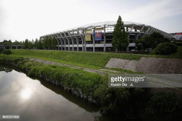 A general view of the stadium prior ot the JLeague J1 match between Vegalta Sendai and Gamba Osaka at Yurtec Stadium Sendai on July 1 2017 in Sendai...