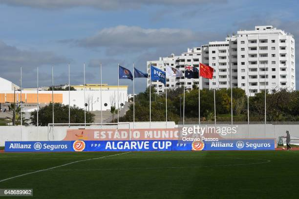 General view of the stadium prior the Women's Algarve Cup Tournament match between China and Australia at Municipal de Albufeira on March 6 2017 in...