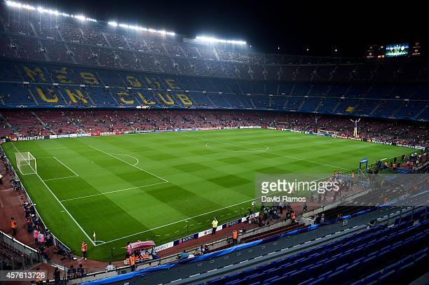 A general view of the Stadium prior to a UEFA Champions League Group F match between FC Barcelona and AFC Ajax at the Camp Nou Stadium on October 21...