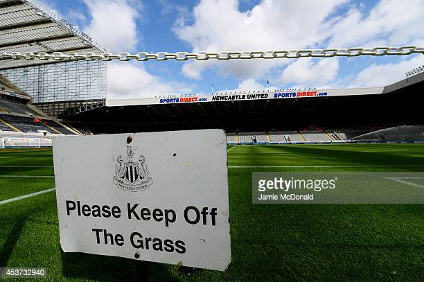 A general view of the stadium prior to kickoff during the Barclays Premier League match between Newcastle United and Manchester City at St James'...