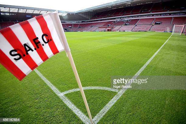 A general view of the stadium prior to kickoff during the Barclays Premier League match between Sunderland and Swansea City at Stadium of Light on...