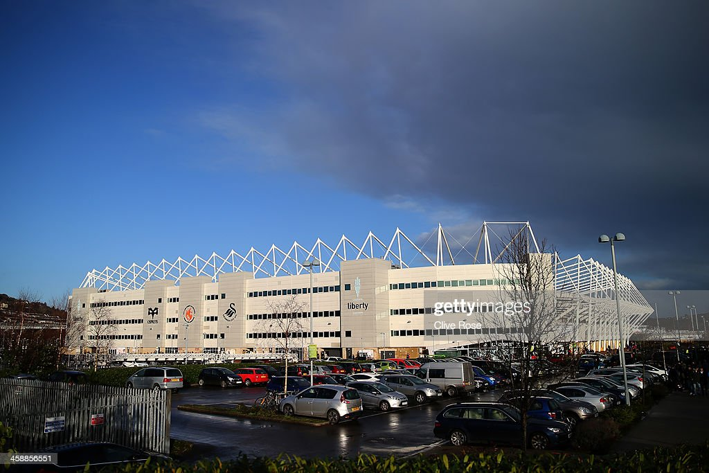 A general view of the stadium prior to kickoff during the Barclays Premier League match between Swansea City and Everton at the Liberty Stadium on December 22, 2013 in Swansea, Wales.