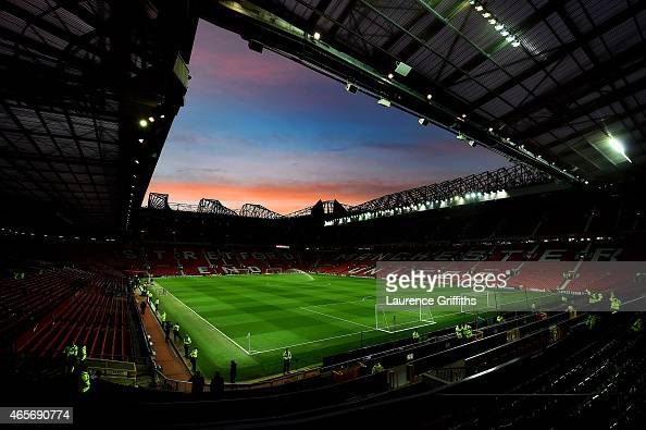 A general view of the stadium prior to kickoff during the FA Cup Quarter Final match between Manchester United and Arsenal at Old Trafford on March 9...