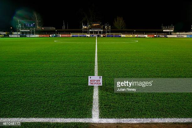 A general view of the stadium prior to kickoff during the FA Cup Third Round match between AFC Wimbledon and Liverpool at The Cherry Red Records...
