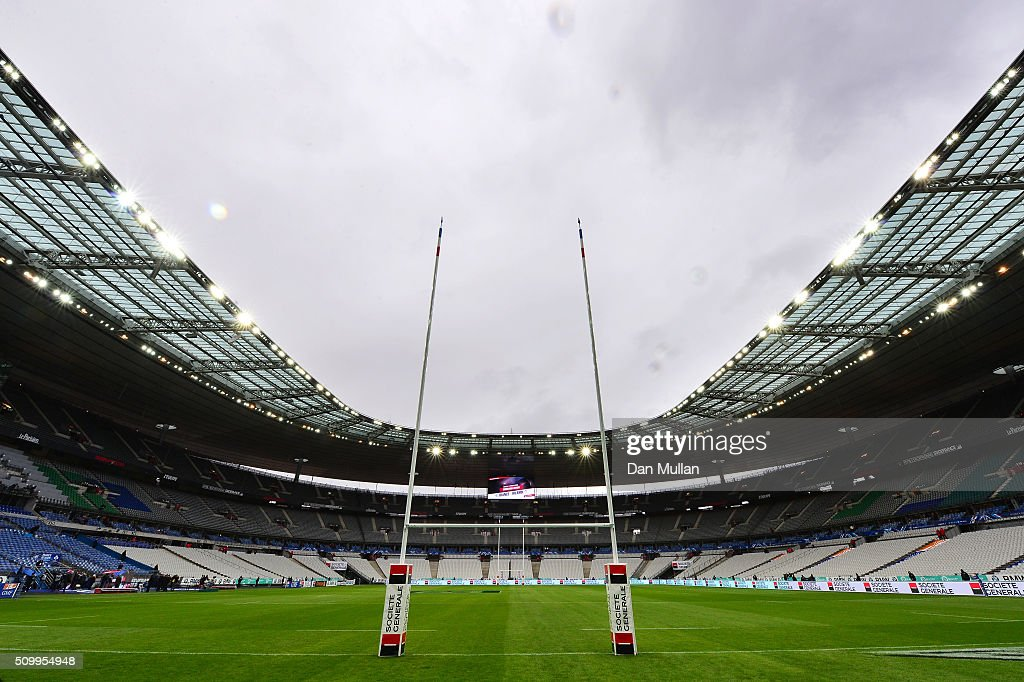 A general view of the stadium prior to kickoff during the RBS Six Nations match between France and Ireland at the Stade de France on February 13, 2016 in Paris, France.