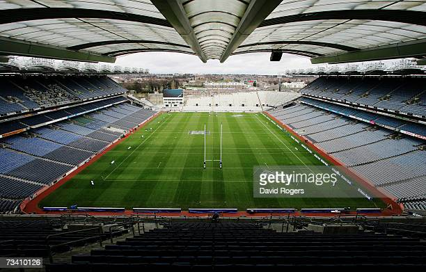 A general view of the stadium prior to kickoff during the RBS Six Nations Championship match between Ireland and England at Croke Park on February 24...