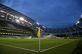 A general view of the stadium prior to kickoff during the UEFA EURO 2016 Qualifier play off second leg match between Republic of Ireland and Bosnia...