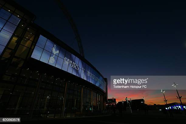 A general view of the stadium prior to kickoff during the UEFA Champions League Group E match between Tottenham Hotspur FC and Bayer 04 Leverkusen at...