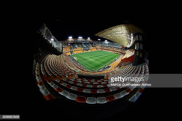 A general view of the stadium prior to La Liga match between Valencia CF and RCD Espanyol at Estadi de Mestalla on February 13 2016 in Valencia Spain