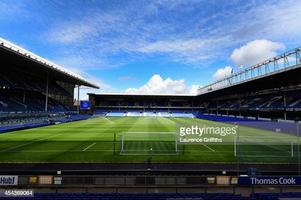 A general view of the stadium prior to the Barclays Premier League between Everton and Chelsea at Goodison Park on August 30 2014 in Liverpool England