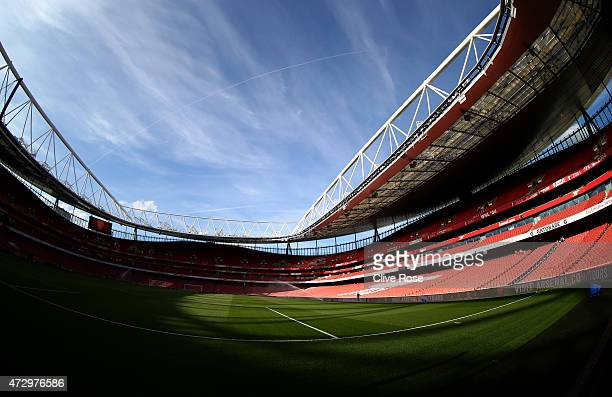 A general view of the stadium prior to the Barclays Premier League match between Arsenal and Swansea City at Emirates Stadium on May 11 2015 in...