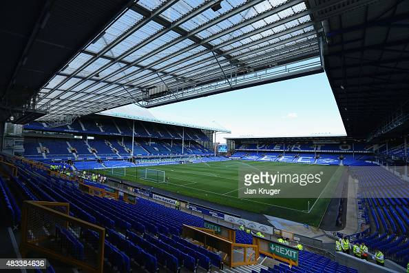 A general view of the stadium prior to the Barclays Premier League match between Everton and Watford at Goodison Park on August 8 2015 in Liverpool...