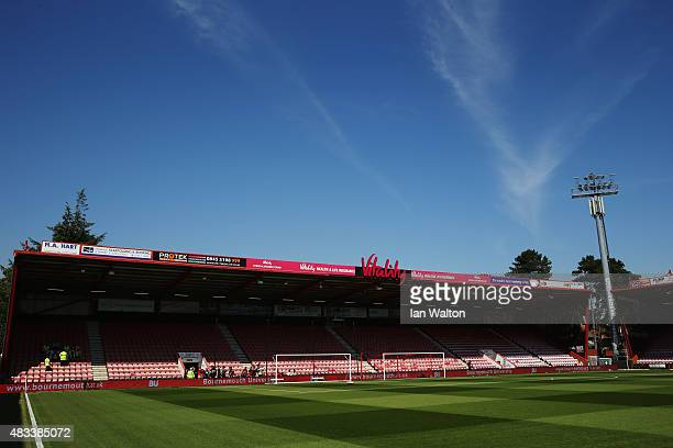 A general view of the stadium prior to the Barclays Premier League match between AFC Bournemouth and Aston Villa at Vitality Stadium on August 8 2015...