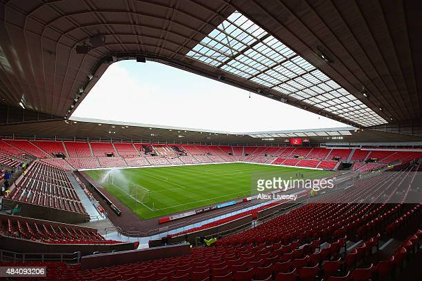 A general view of the stadium prior to the Barclays Premier League match between Sunderland and Norwich City at the Stadium of Light on August 15...