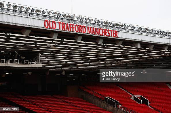 A general view of the stadium prior to the Barclays Premier League match between Manchester United and Newcastle United at Old Trafford on August 22...
