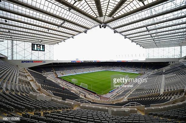 A general view of the stadium prior to the Barclays Premier League match between Newcastle United and Chelsea at St James' Park on September 26 2015...