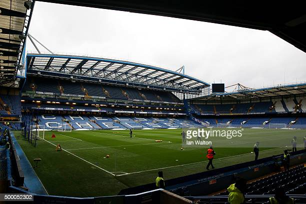 A general view of the stadium prior to the Barclays Premier League match between Chelsea and AFC Bournemouth at Stamford Bridge on December 5 2015 in...