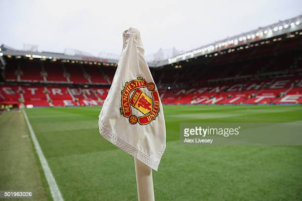 A general view of the stadium prior to the Barclays Premier League match between Manchester United and Norwich City at Old Trafford on December 19...