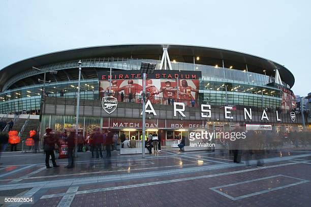 A general view of the stadium prior to the Barclays Premier League match between Arsenal and AFC Bournemouth at Emirates Stadium on December 28 2015...